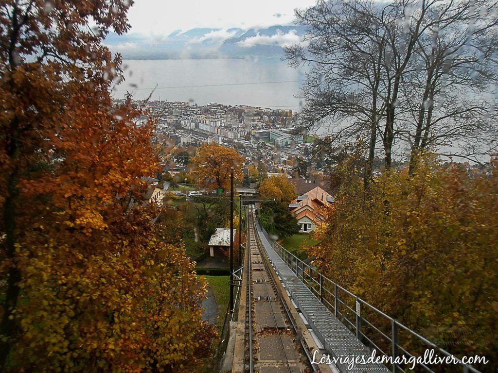 funicular de Vevey en Suiza- los viajes de margalliver